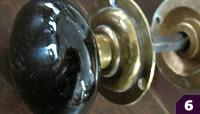 Black porcelain doorknob