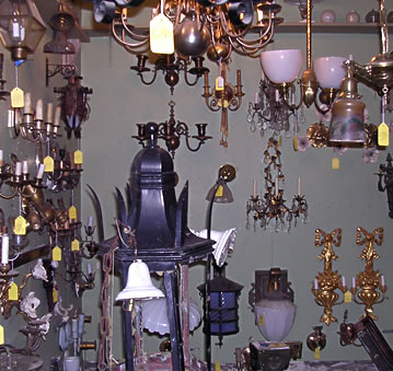 Antique lighting products available at Restoration Resources: Sinks, tubs, towel bars, medicine cabinets, soap dishes.