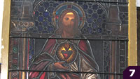 beautiful Sacred Heart stained glass