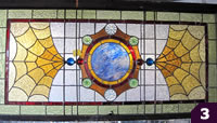 Yellow, Brown, Blue stained glass