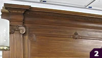Gumwood with Limestone mantel