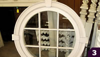 Round window with molding