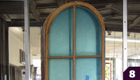 Wood arch top windows
